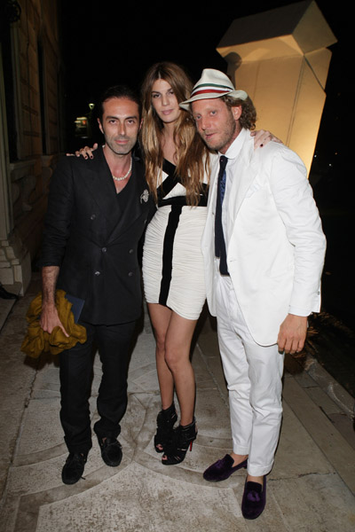 June 5: Giambattista Valli, Bianca Brandolini D'Adda, Lapo Elkann at L'Uomo Vogue's Art Issue Opening Party