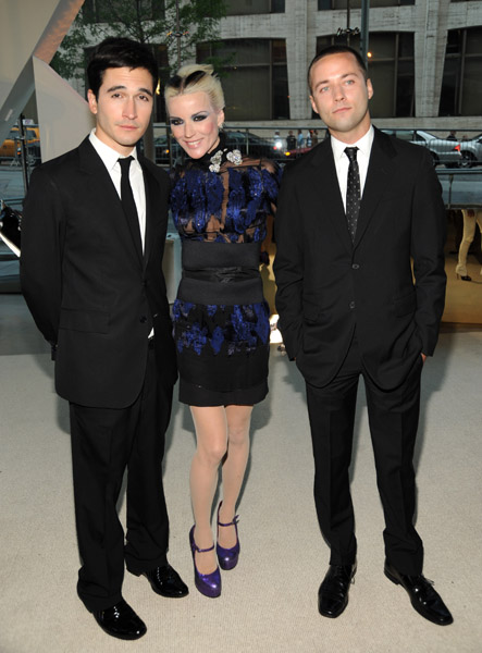 Proenza Schouler's Lazaro Hernandez and Jack McCollough with Daphne Guinness in their design