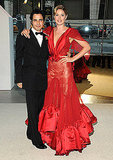 Zac Posen with Doutzen Kroes in his design