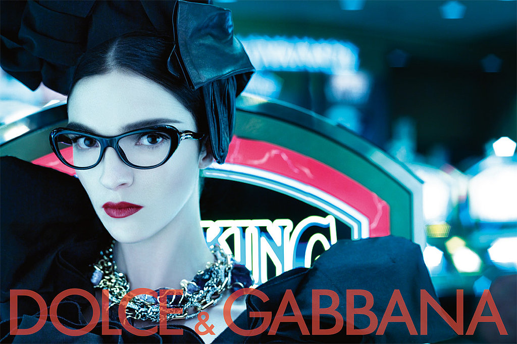 Heidi Mount Makes Like a Pink Gorilla for Dolce & Gabbana's Fall 2009 Ad Campaign