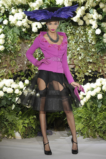 John Galliano Shows a Little Garter for Fall 2009 Christian Dior Couture