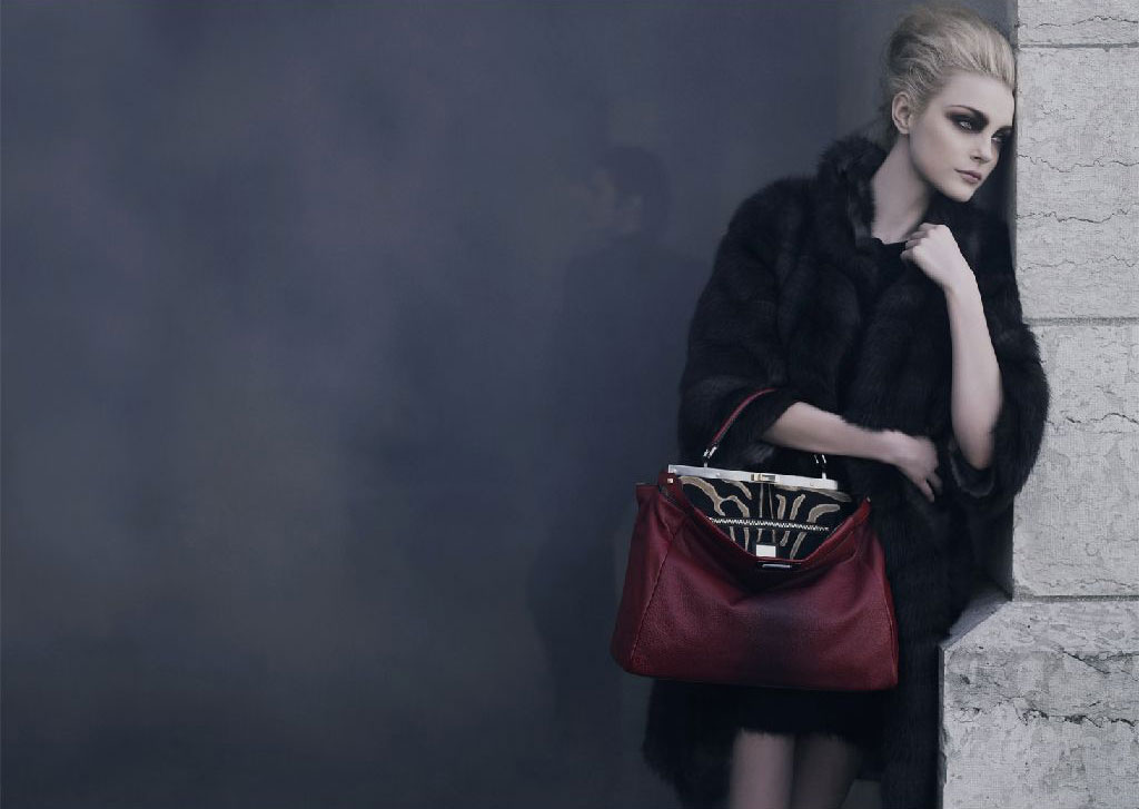 Jessica Stam Goes All Smoke and No Mirrors for Fendi's Fall 2009 Campaign