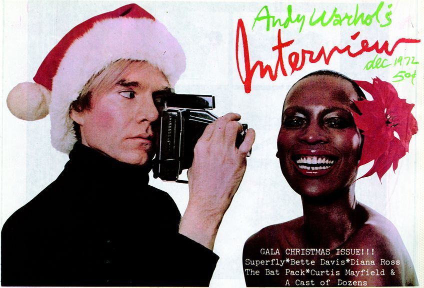 Dec. 1972: Interview cover with Andy Warhol