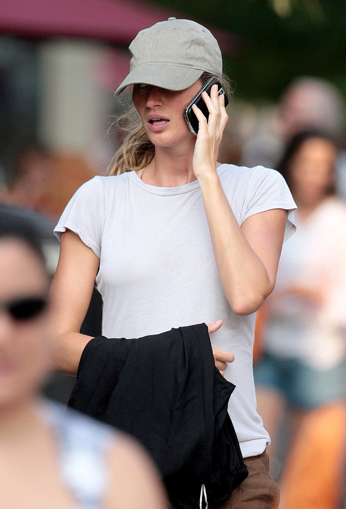 Gisele Bundchen May Not Be Confirming Her Pregnancy, But Her Bump Says Otherwise