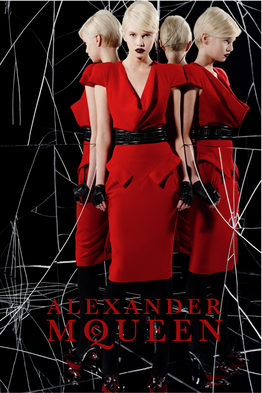 Alexander McQueen Teases Spring 2010 Collection as Fall 2009 Campaign Pops Up