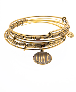 Alex and Ani Love Bangles, $108 (20% discount through Someone Spoil Me)