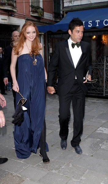 Lily Cole and Enrique Murciano, Photo by D. Venturelli/Wireimage
