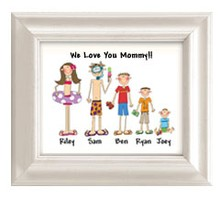 We Love Mom Frame