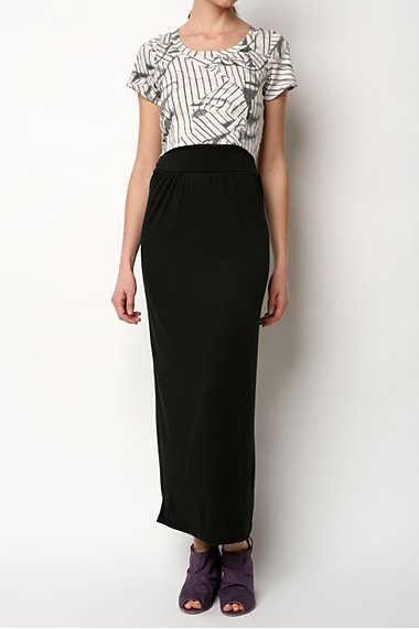 An elegant maxi skirt...
