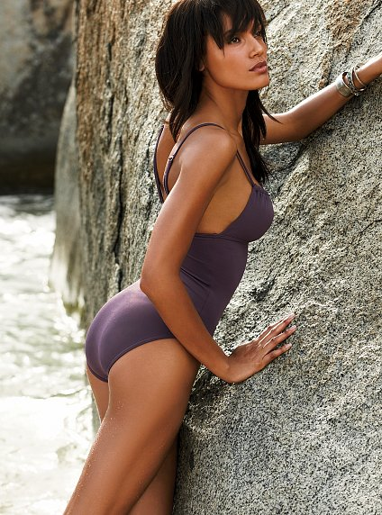 A solid one-piece swimsuit...