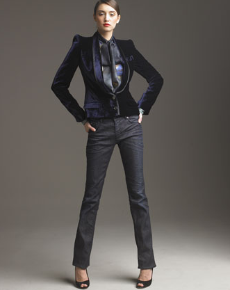 A statement shoulder jacket.