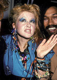 At a Cyndi Lauper Concert Party, 1984