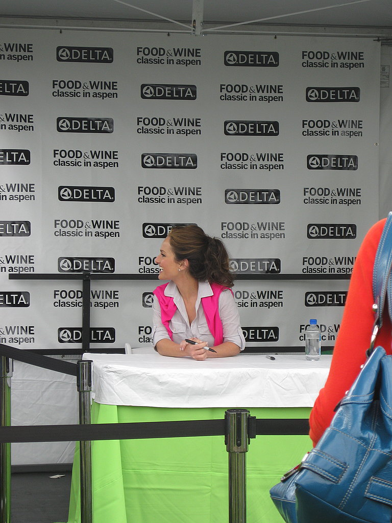 After the demo Giada was swiftly escorted to her book signing.