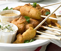 Blue Cheese Mini Corndogs