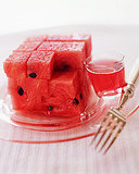 Watermelon Squares in Campari