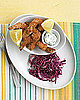 Recipe For Crispy Shrimp With Tartar Sauce and Red Cabbage Slaw