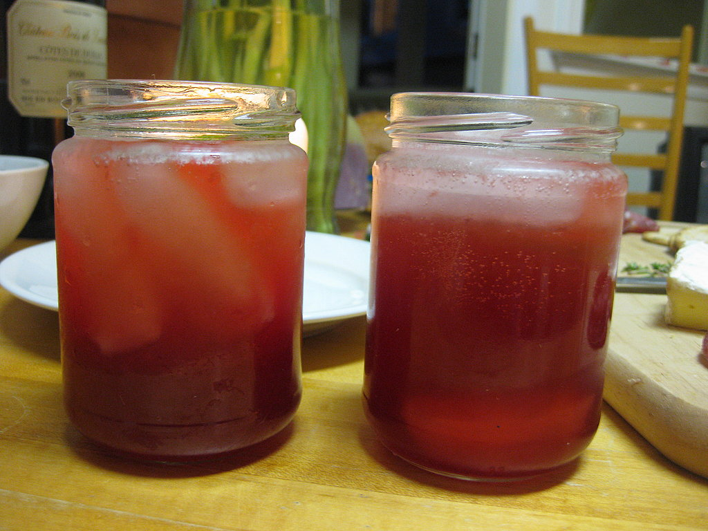 I made the cocktail: sour cherry gin slings.