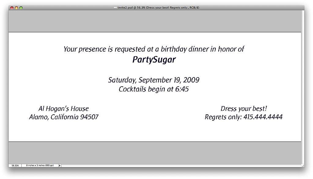My Birthday Party Invitation