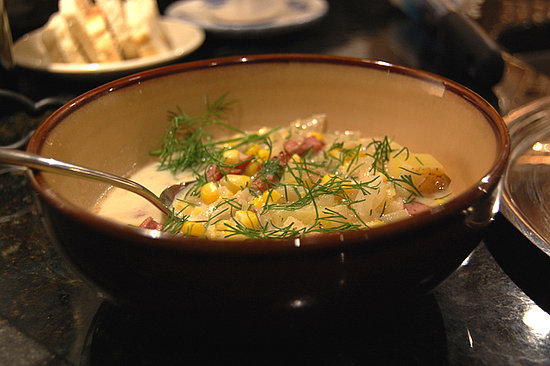 Corn and Kielbassa Chowder