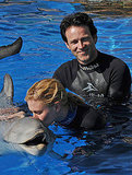 Photos of Anna Paquin and Steven Moyer at Sea World in San Diego