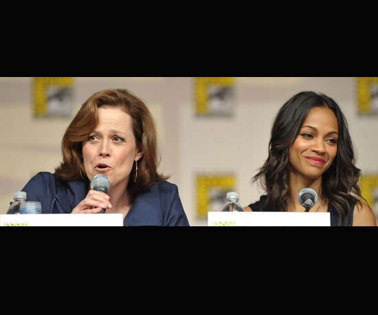 Sigourney Weaver and Zoe Saldana