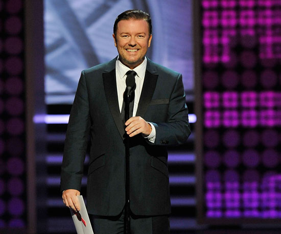 Ricky Gervais Steals the Laughs