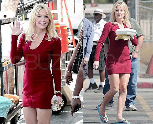 First Photos of Heather Locklear Back on the Set of Melrose Place as Amanda Woodward