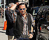 Photo Slide of Johnny Depp at The Late Show in NYC