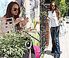 Photos of Lindsay Lohan at Wetzel's Pretzel's at the Americana Mall in LA