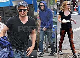 Photos of Twilight's Robert Pattinson and Emilie de Ravin Filming Remember Me in NYC