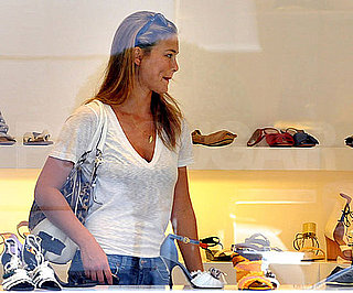 Photo Slide of Bar Refaeli Shopping For Shoes in Milan