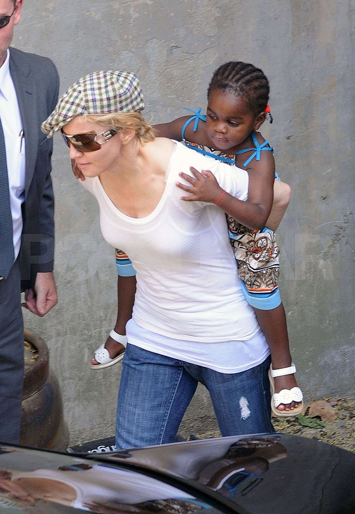 Photos of Madonna Giving Mercy a Piggyback Ride