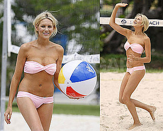 Bikini Photos of Stephanie Pratt Playing Beach Volleyball in Miami