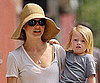 Slide Photo of Keri Russell and River Out in Sunny NYC