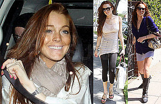 Photos of Lindsay Lohan Shopping and at Bardot Before Her Birthday