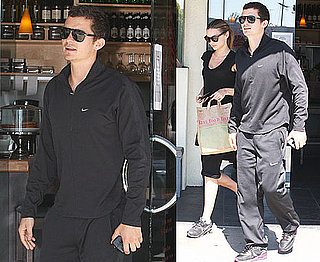 Photos of Orlando Bloom and Miranda Kerr Leaving a Restaurant in LA