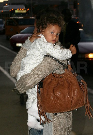 Photos of Halle Berry, Gabriel and Nahla Aubry at LAX