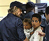 Photo Slide of Halle Berry, Gabriel Aubry and Nahla Aubry at the Airport