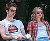 Slide Photo of Robert Pattinson and Emilie de Ravin on a Park Bench on the Set of Remember Me