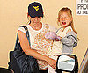 Slide Photo of Jennifer Garner Wearing a Cap Picking Up Violet Affleck From School