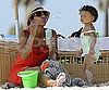 Photo Slide of Halle Berry with Daughter Nahla Aubry at the Miami Beach