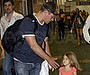Photo Slide of Matt Damon and His Daughter Isabella at the Miami Airport