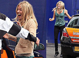 Photos of Sienna Miller Jumping for Joy After Passing Her Driver's Test in London