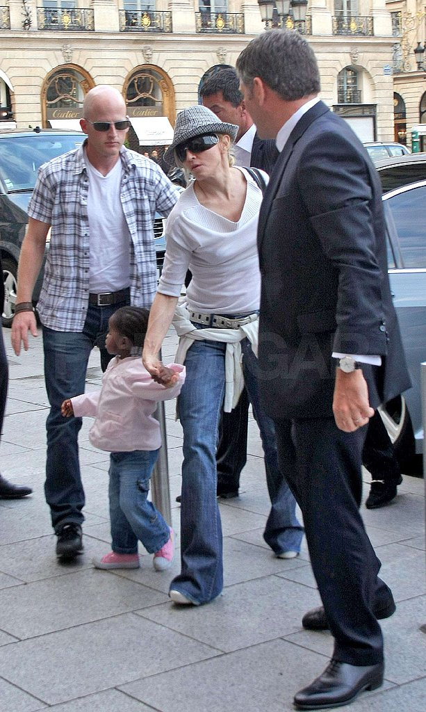 Photos of Madonna and the Kids in Paris