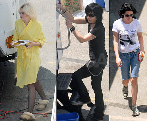 Photos of Kristen Stewart, Joan Jett, and Dakota Fanning on the Set of The Runaways in LA