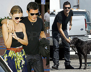 Photos of Orlando Bloom and Miranda Kerr at Taverna Tonys Before Heading to LAX