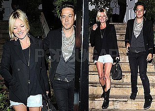Photos of Kate Moss and Jamie Hince Leaving Sadie Frost's House in London