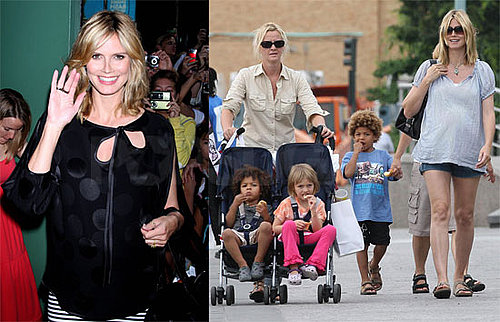 Photos of Heidi Klum With Her Kids in NYC, Video and Photos of Her Appearance on Good Morning America