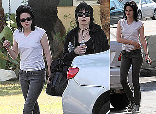 Photos of Kristen Stewart and Joan Jett On The Set of The Runaways in LA