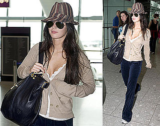Photos of Megan Fox at Heathrow, Trailer for Jennifer's Body